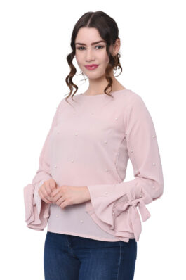 Pink Pearl Embroidered Top