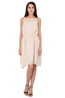 Offwhite Embroidered Dress